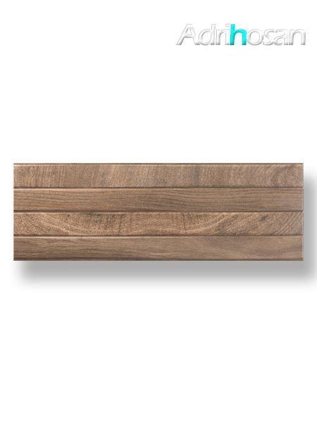 Revestimiento decorado pasta blanca rectificado lamas madera 30 x 90 cm (1.08 m2/cj)