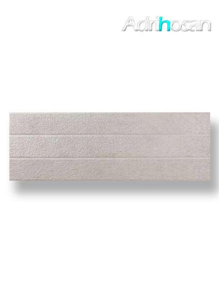 Revestimiento pasta blanca rectificado Arrecife decorado gris mate 40x120 cm (1.44 m2/cj)