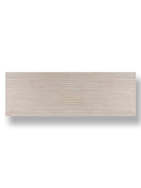 Revestimiento pasta blanca rectificado Sensación decorado crema mate 40x120 cm.