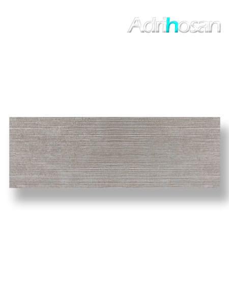 Revestimiento pasta blanca rectificado Sensación decorado gris mate 40x120 cm (1.44 m2/cj)