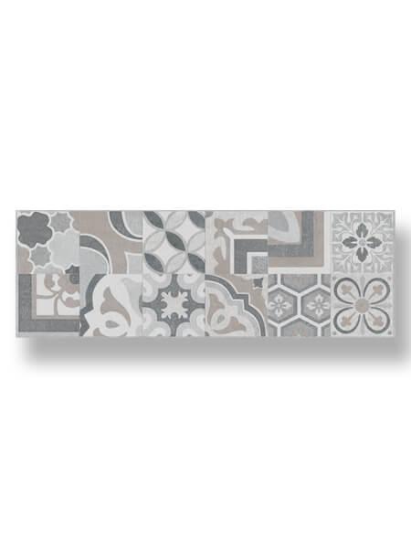 Revestimiento pasta blanca rectificado Sensación decorado hidraulico mate 40x120 cm.
