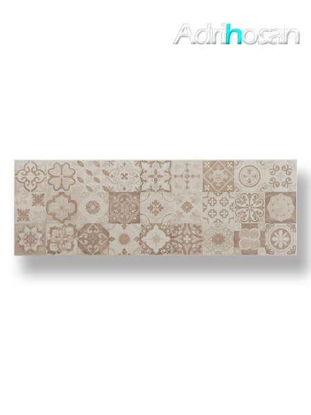 Azulejo pasta blanca rectificado Messei hidráulico crema 30x90 cm (1.08 m2/cj)