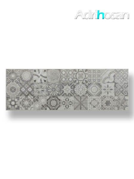 Azulejo pasta blanca rectificado Messei hidráulico marengo 30x90 cm (1.08 m2/cj)