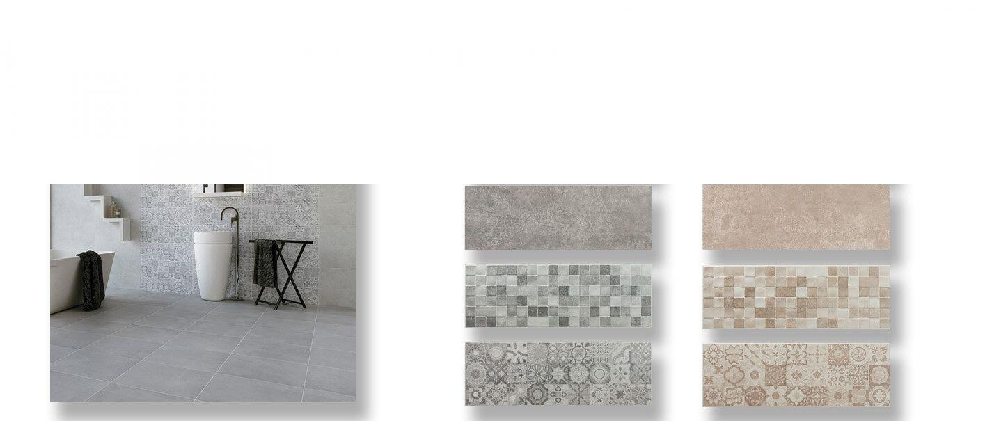 Azulejo pasta blanca rectificado Messei mate 30x90 cm.