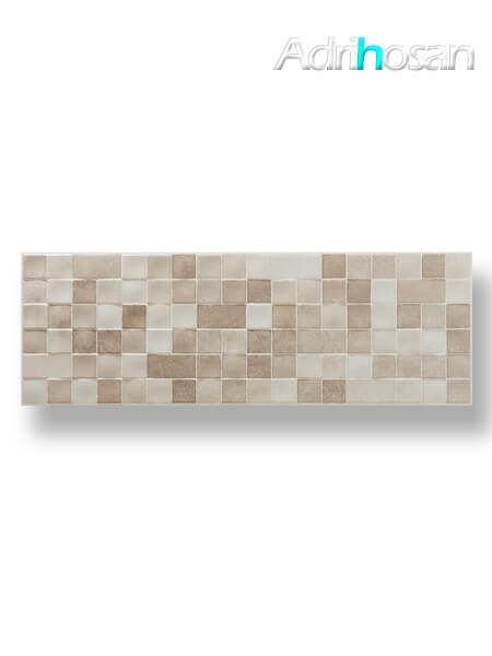 Azulejo pasta blanca rectificado Messei relieve crema 30x90 cm (1.08 m2/cj)