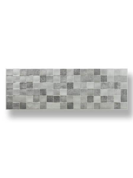 Azulejo pasta blanca rectificado relieve Messei marengo mate 30x90 cm.