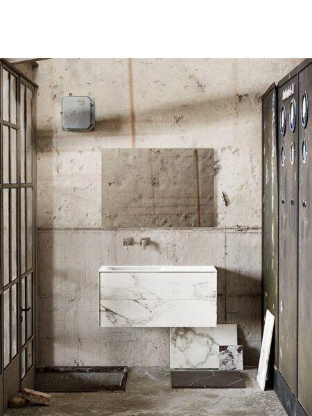 Mueble de baño Vica 100 cm porcelánico Calacatta