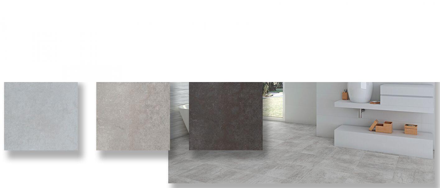 Pavimento porcelánico rectificado imitación cemento Beziers