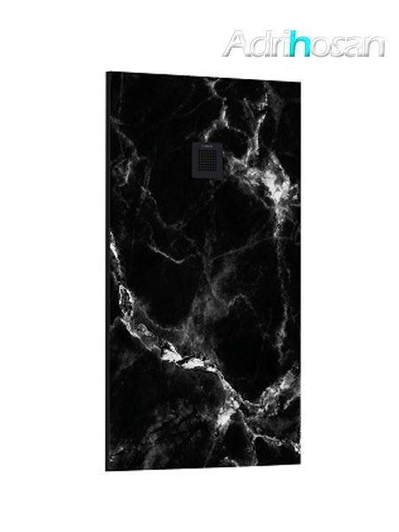 Plato de ducha de resina Gel Coat mármol Nero Marquina