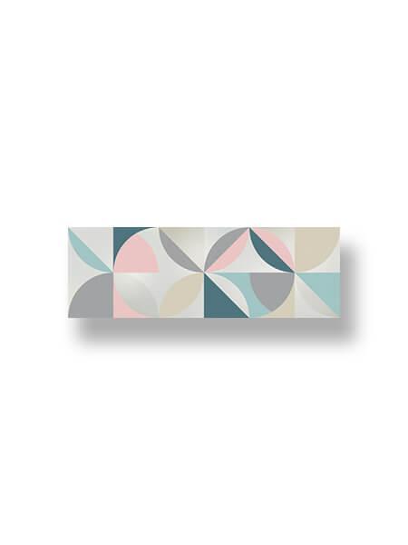 Revestimiento pasta blanca Autum decorado Osh brillo 20x60 cm.