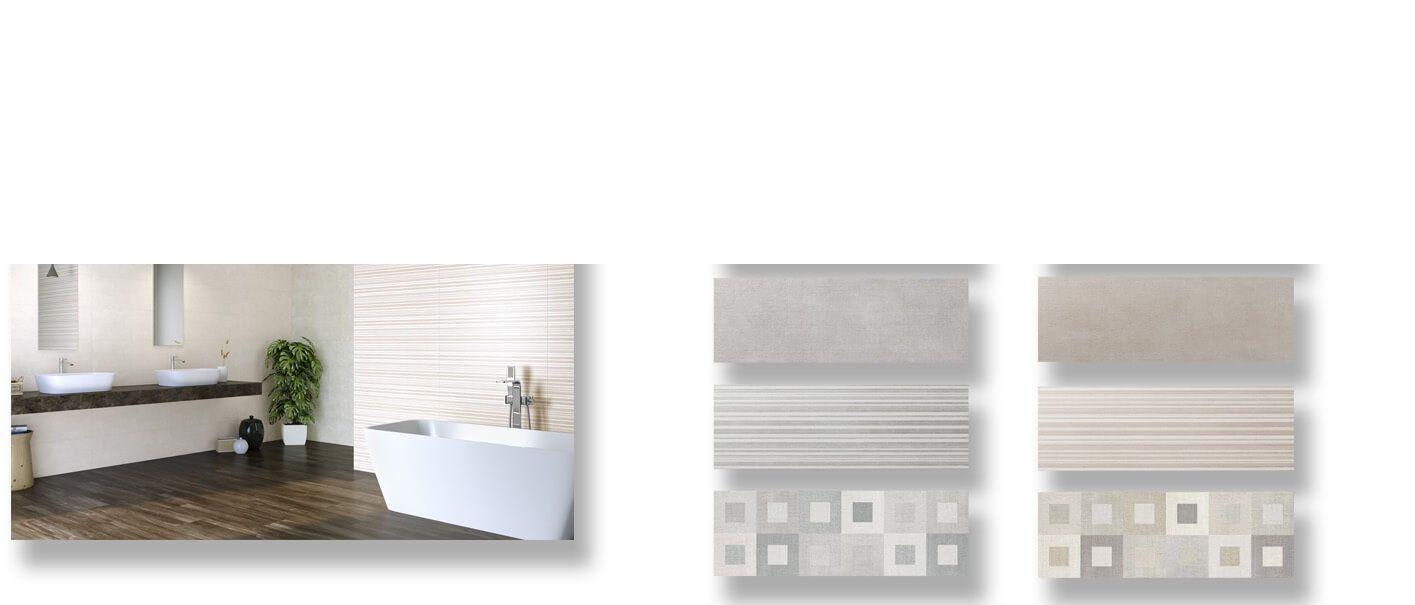 Azulejo pasta blanca rectificado Albufera mate 30x90 cm.