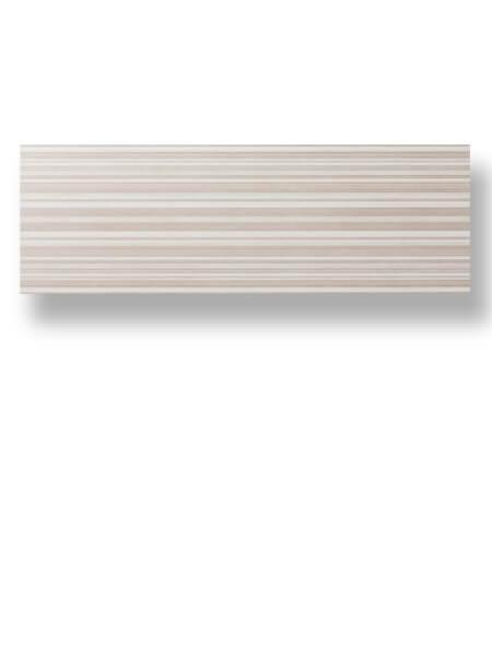 Azulejo pasta blanca rectificado Albufera decorado brown mate 30x90 cm.