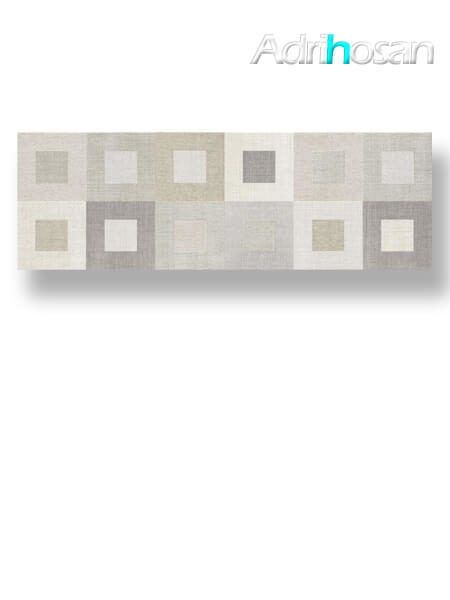 Azulejo pasta blanca rectificado decorado Gea marfil 30x90 cm (1.08 m2/cj)
