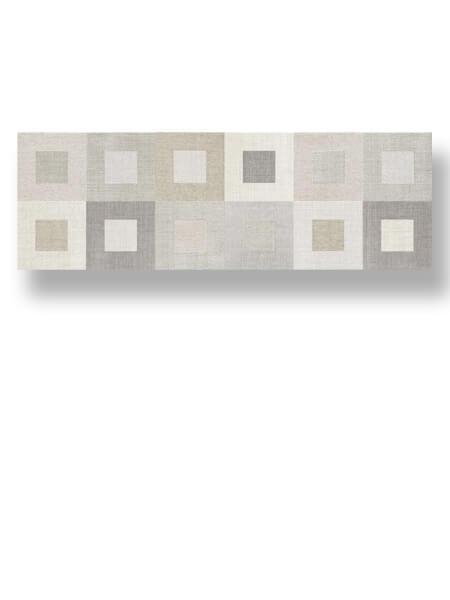 Azulejo pasta blanca rectificado Albufera decorado gea marfil mate 30x90 cm.