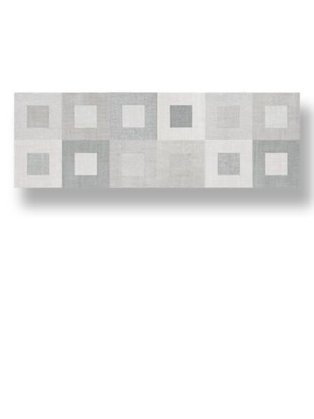Azulejo pasta blanca rectificado Albufera decorado gea perla mate 30x90 cm.
