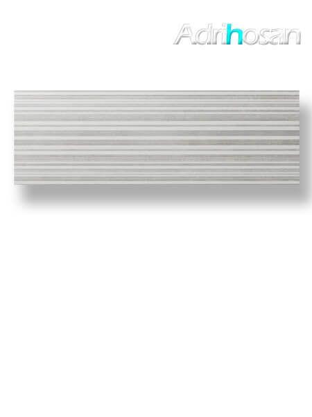 Azulejo pasta blanca rectificado decorado Albufera grafito 30x90 cm (1.08 m2/cj)