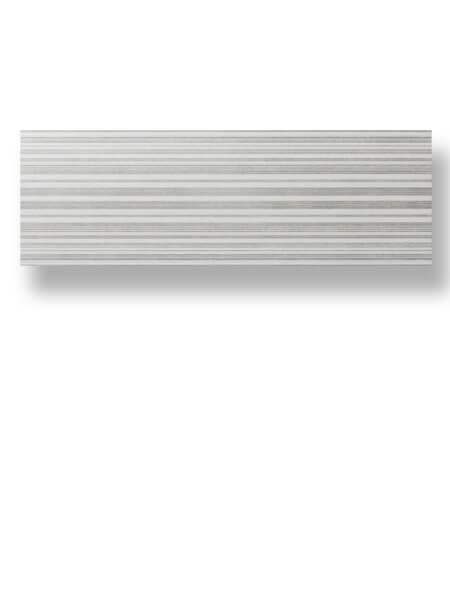 Azulejo pasta blanca rectificado Albufera decorado grafito mate 30x90 cm.