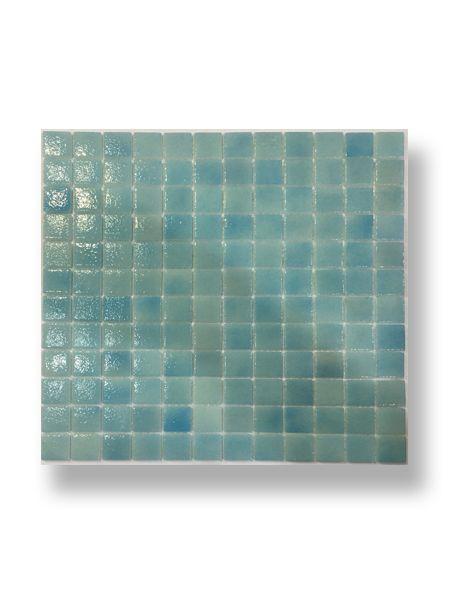 Gresite para piscinas tesela 2,5x2,5 cm malla 30x30 cm azul celeste N1210