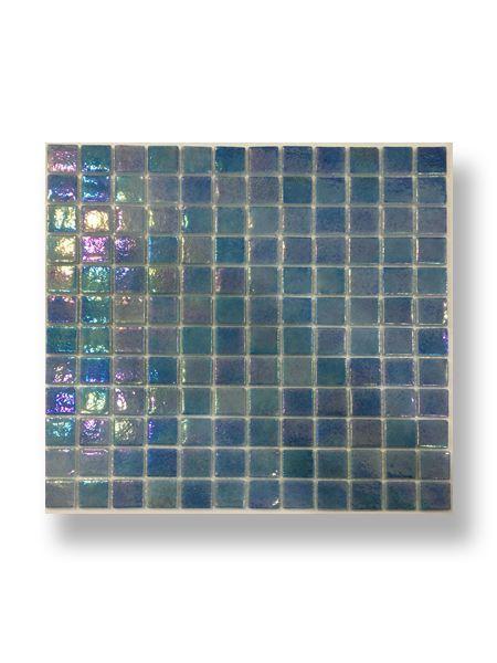 Gresite para piscinas tesela 2,5x2,5 cm malla 30x30 cm azul nacarado FBZNQ22