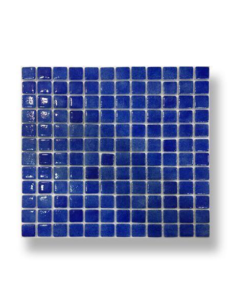 Gresite para piscinas tesela 2,5x2,5 cm malla 30x30 cm azul oscuro N1207