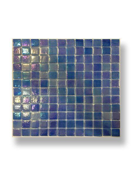 Gresite para piscinas tesela 2,5x2,5 cm malla 30x30 cm azul nacarado FBZNQ25