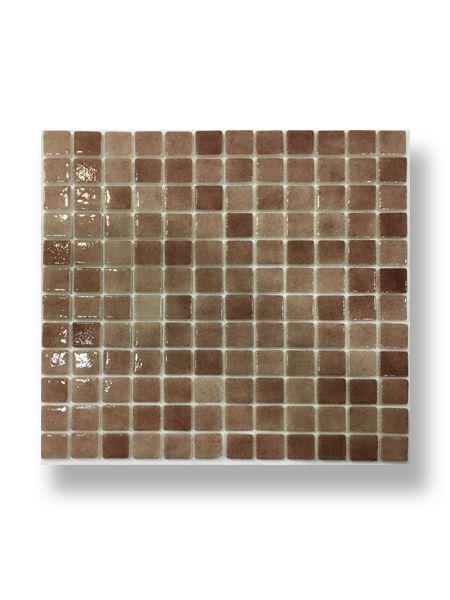 Gresite para piscinas tesela 2,5x2,5 cm malla 30x30 cm beige N1109