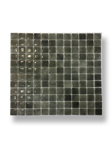 Gresite para piscinas tesela 2,5x2,5 cm malla 30x30 cm gris claro N1102