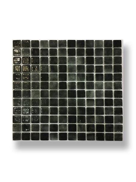 Gresite para piscinas tesela 2,5x2,5 cm malla 30x30 cm negro N1104