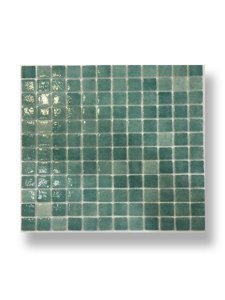 Gresite para piscinas tesela 2,5x2,5 cm malla 30x30 cm verde N3007