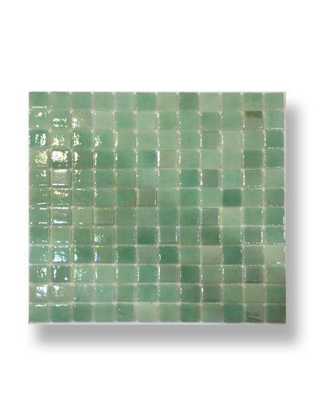 Gresite para piscinas tesela 2,5x2,5 cm malla 30x30 cm verde N3057