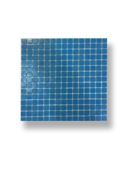 Gresite para piscinas tesela 2x2 cm malla 30x30 cm Azul medio B011