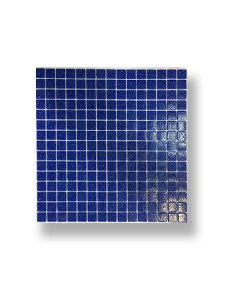 Gresite para piscinas tesela 2x2 cm malla 30x30 cm Azul medio C044