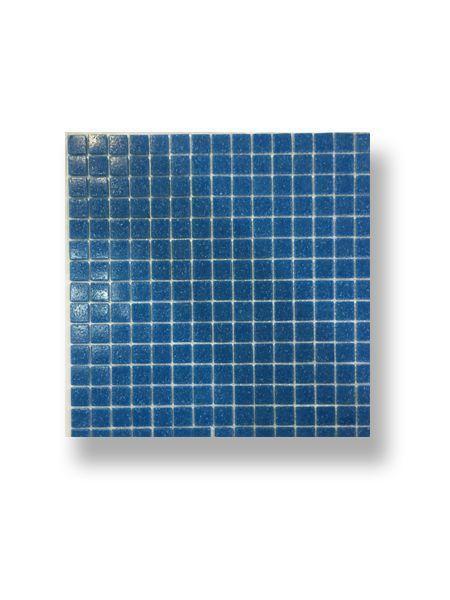 Gresite para piscinas tesela 2x2 cm malla 30x30 cm Azul medio C050