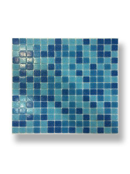 Gresite para piscinas tesela 2x2 cm malla 30x30 cm Azul mix Nostrum