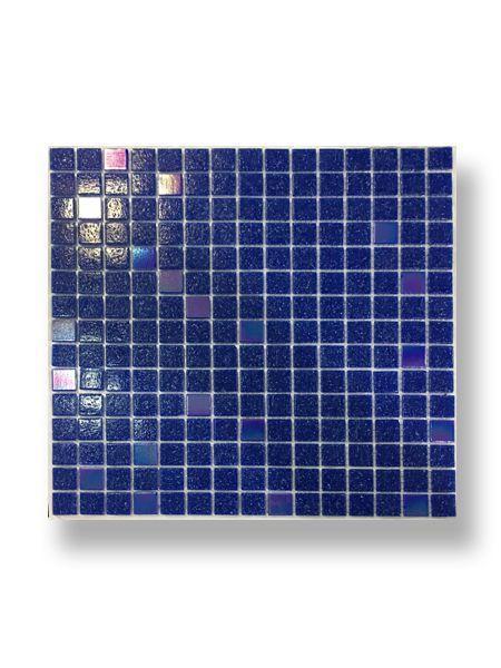 Gresite para piscinas tesela 2x2 cm malla 30x30 cm Azul nacar A31-P31