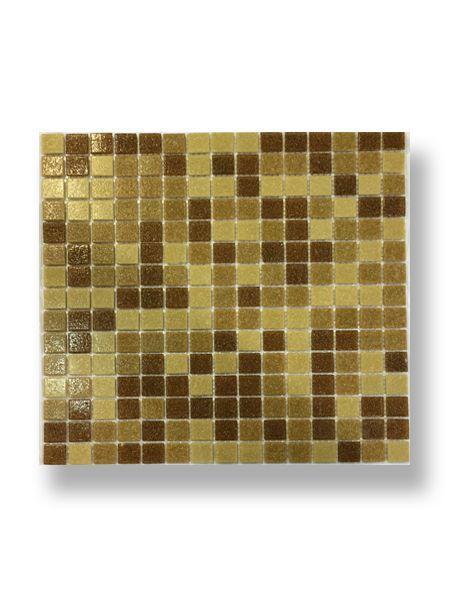 Gresite para piscinas tesela 2x2 cm malla 30x30 cm beige mix Arzachena