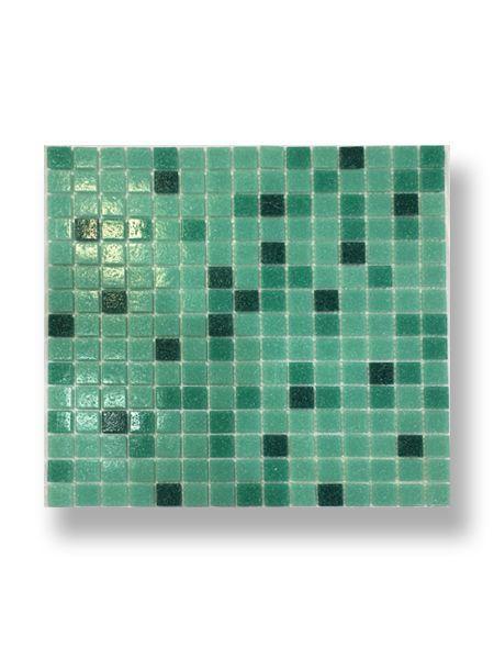 Gresite para piscinas tesela 2x2 cm malla 30x30 cm Turquesa