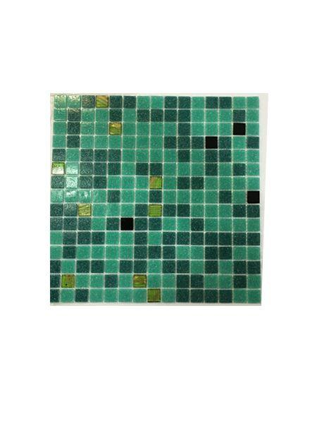 Gresite para piscinas tesela 2x2 cm malla 30x30 cm Verde esmeralda