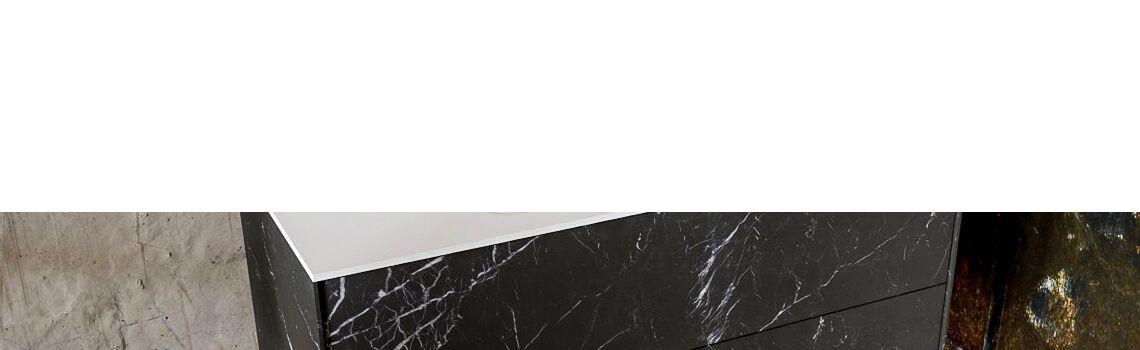 Mueble de baño Vica 100 cm porcelánico Elegant Black