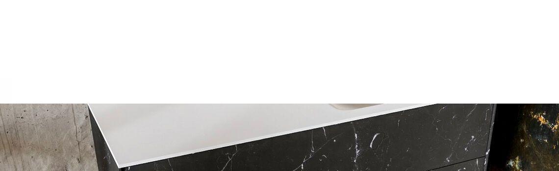 Mueble de baño Vica 120 cm porcelánico Elegant Black