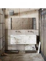 Mueble de baño Vica 150 cm porcelánico Calacatta