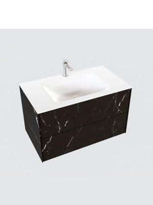Mueble de baño Vica 80 cm porcelánico Elegant Black