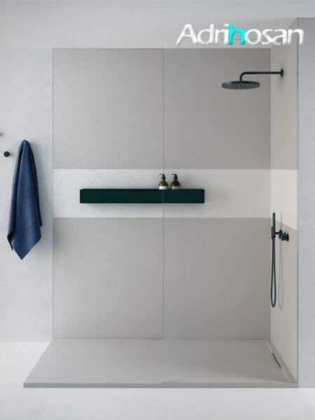 Plato de ducha Fiora Limite 200 x 100 x 4.1 textura pizarra resinas minerales