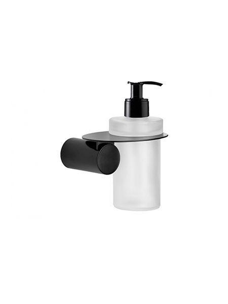 Dosificador a pared Negro serie Zaragoza- Accesorio de baño
