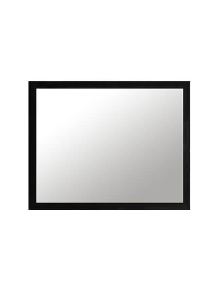 Espejo Negro Mirko 100x80 cm MDF lacado negro mate