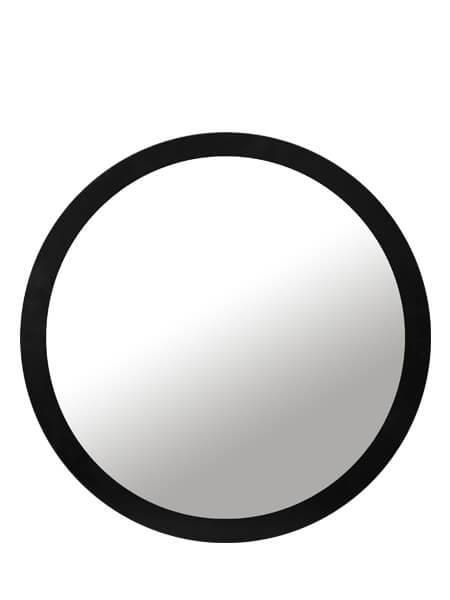 Espejo Negro sin iluminación led redondo diámetro 80 cm