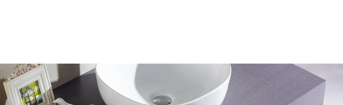 Lavabo cerámico cuadrado Olea blanco 410 x 410 x 145 mm.