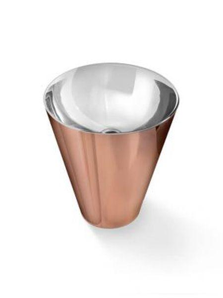 Lavabo metálico acero brillo Rose Gold Pedraza