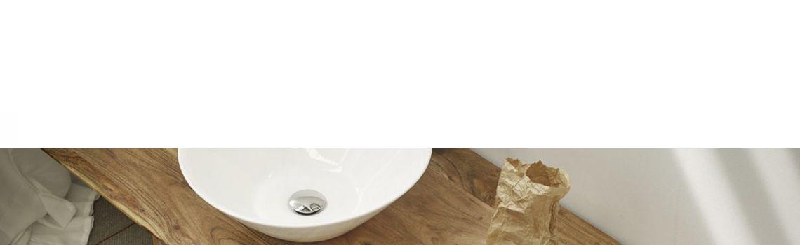 Lavabo cerámico redondo Plasencia D 425 x 145 cm blanco.