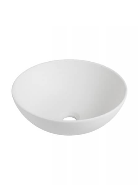 Lavabo cerámico redondo Sicilia D 400 x 150 cm blanco